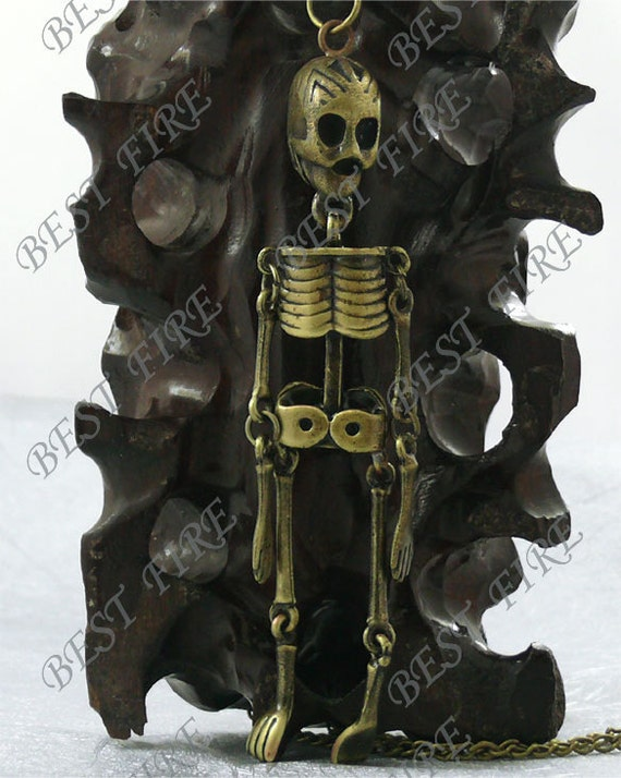 95mm Antiqued Brass human skeleton Charm Pendant,human skeleton findings