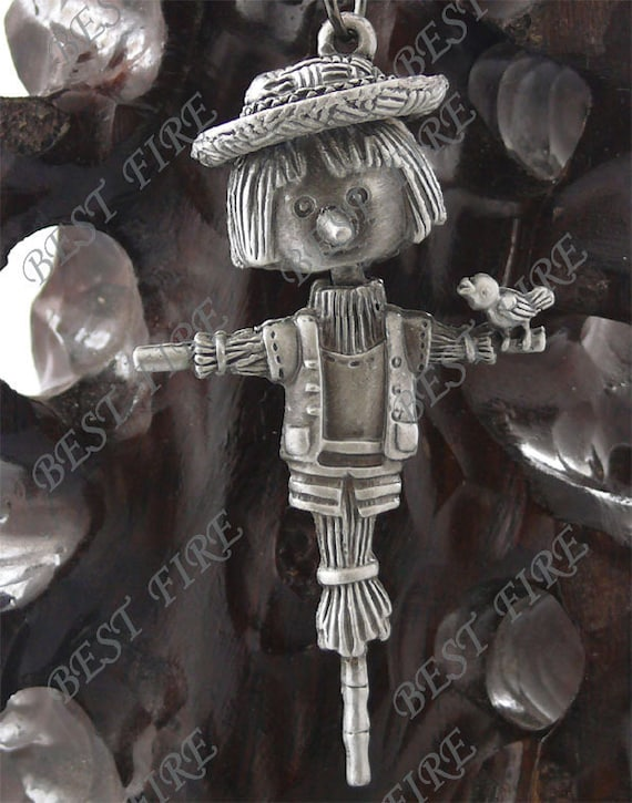 35x60MM  Antique Silver lovely Scarecrow Charm Pendant,metal finding,pendant beads