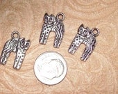 Silver Cat Charms Lot of 3