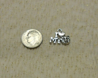 Silver Cat Charms Lot of 5