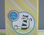 Feel better card with cat