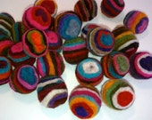 Felt Balls 55 count 1 inch Felted Swirly Pop Balls by YUMMi