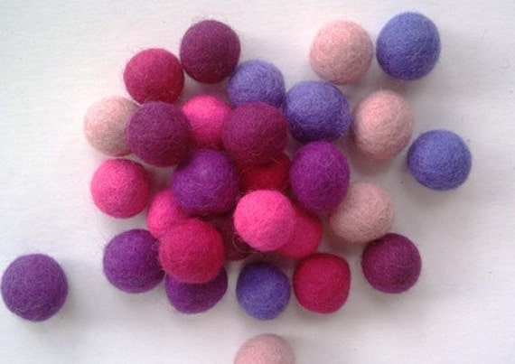 Felt Balls 100 count 20mm Felted balls by YUMMI