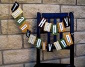 Happy Thanksgiving Banner Cardboard-Repurposed