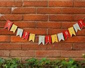 Circus Birthday Banner- Carnival- Happy Birthday