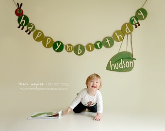 Caterpillar Birthday Banner