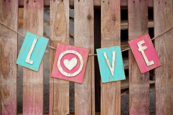 LOVE banner- Choose your own colors