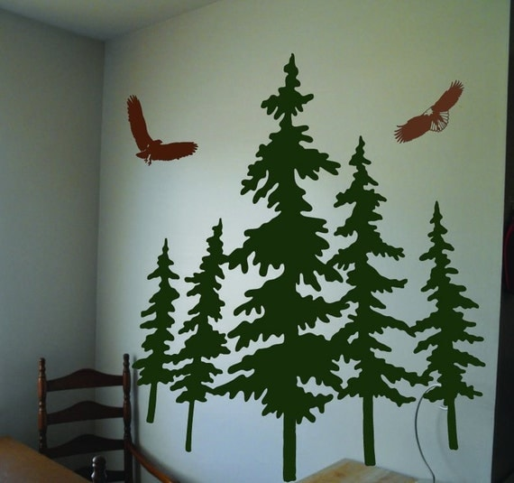 Items Similar To Vinyl Wall Decal Art Sticker With Pine