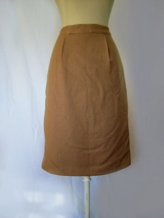 items similar to camel colored wool pencil skirt size 8 on