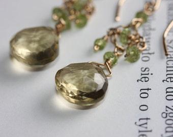 Hand made topaz earrings