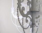 Silver Winter Chandelier - Holiday Wedding Cardboard Decor