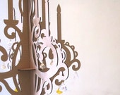 Crystal Chandelier - Laser Cut Cardboard Glamour