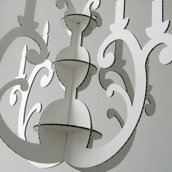 Eco kronleuchter weiß Öko dekor moderner von fabparlor auf etsy