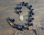 SALE necklace, Lapis lazuli necklace, handmade lapis, HANDMADE lapis jewelry, 15% reduction