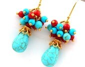 RESERVED Bright and Bold Earrings