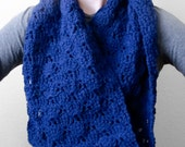 Wide Shell Lace Circle/Infinity/Cowl/Circle/Loop Crochet Scarf