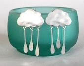 Cloud Earrings Silver Drops
