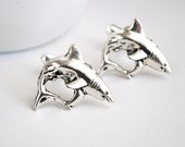 Shark Cuff Links. Great White Shark Cufflinks - paperfacestudio