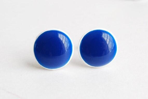 Olympian Blue Earrings. Navy Blue Earrings