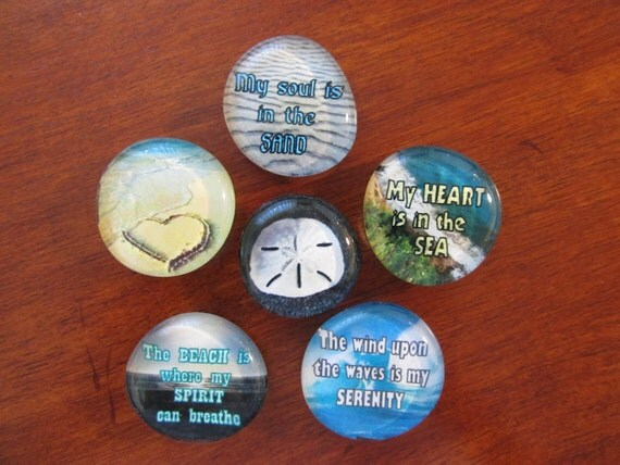 I love the BEACH Seashore Magnets