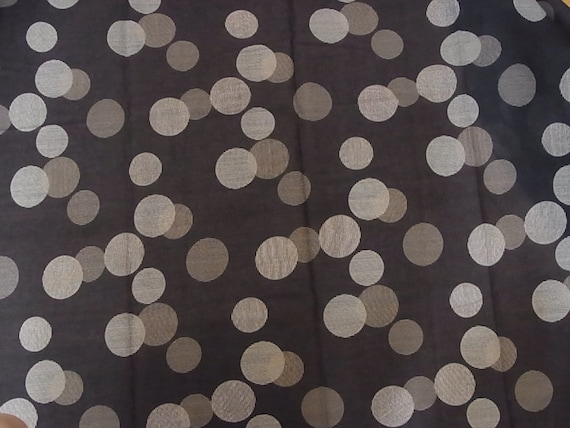 SALE / Striped dot fabric