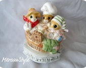Gorham Nursery Rhyme Mice Music Box Rub-A-Dub-Dub 80s