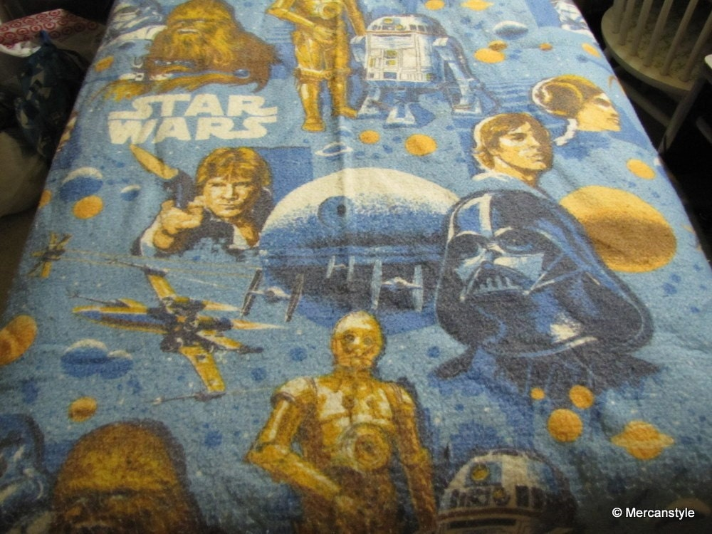 Vintage Star Wars Twin Blanket