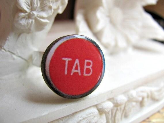 Typewriter Key Ring - TAB - Adjustable