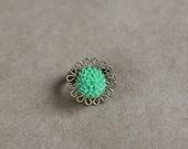 green goddess - antique brass ring