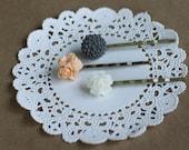 afternoon tea - three flower hairpins