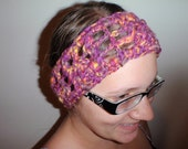 Hippie Handmade Headband Crocheted with Handspun Yarn