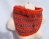 Two Color Stripe Cowl Made to Order Choose your Colors
