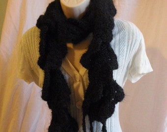 Black Spiral Scarf Made to order