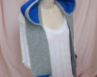 Custom made Hooded Riley scarf. You choose your colors