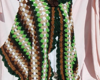 Green and Brown Wrap
