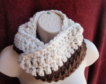 Choose your colors Made to order Half and Half Thick Chunky Cowl