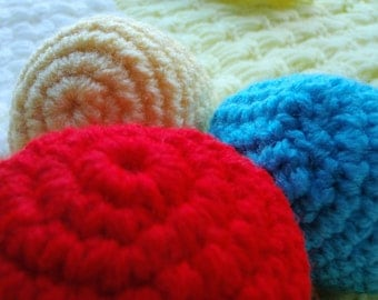Crochet Baby Toy Balls Set of 5 Choose your Colors Soft