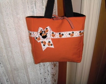 Pumpkin Mouse Purse/Tote For Girls Or Ladies  - Was 15.75 now 12.50 - Priced to Sell
