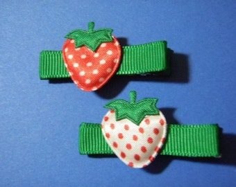 Sweet Strawberry Hair Clip Set For Infant Toddler Girl