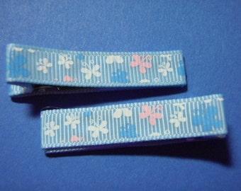 Blue Butterflies Simple Clippie Set Of 2
