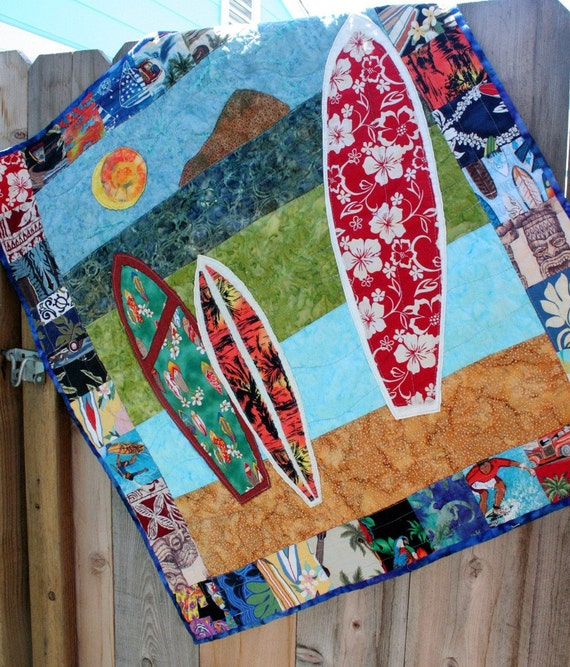 Items Similar To Surfboard Baby Boy S Quilt 41 Quot X41