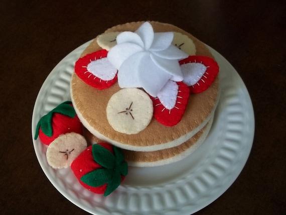 felt strawberry banana pancake set