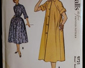Vintage Sewing Pattern 50s Womens Duster Dress Pattern McCalls 9721 size 14