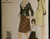 Vogue 6556 Misses Suit & Blouse Pattern 60s Vintage Sewing Pattern Sz 10