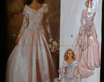 Butterick 5831 Misses Bridal Gown or Bridesmaid Dress Pattern  Sz 8-10-12
