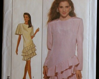Vintage Sewing Pattern Simplicity 8858 Misses Special Occasion Dress Pattern Sz 8 to 12