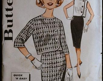 Vintage 60s Misses Jacket and Skirt Pattern  Butterick 9670 Sz 14