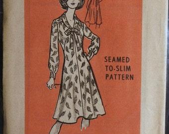 Vintage Misses A Line Dress Mail Order Printed Pattern 9318 Sz 14