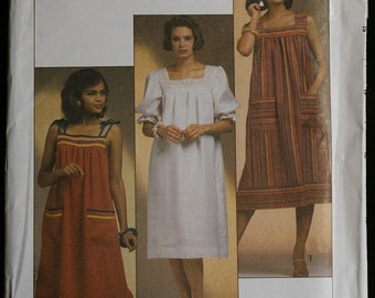 Simplicity 6788 Misses Casual or Float Dress Pattern Vintage Sewing Pattern Sz 10 to 12