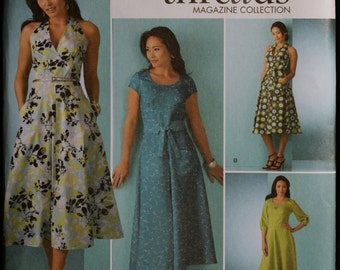Simplicity 2888 Misses Dress in Three Variations Halter Style Sewing Pattern Threads Magazine Collection Sz 8 to 16